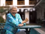 WARNING: Embargoed for publication until 00:00:01 on 07/02/2017 - Programme Name: The Real Marigold Hotel S2 - TX: n/a - Episode: The Real Marigold Hotel S2 (No. n/a) - Picture Shows:  Lionel Blair - (C) TwoFour - Photographer: Ali Harshad/Papaya Media
