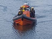 Search boat coming into Rosbeg during the search