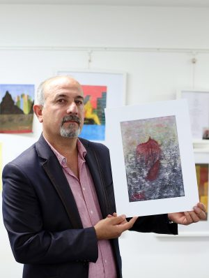Marwan Moussa from Syria: Marwan's exhibition 'Refugee Sketches' is on show at Whiterock Library until the end of October. It's one of over 160 events marking this year's Community Relations & Cultural Awareness Week which took place 18-24 September.