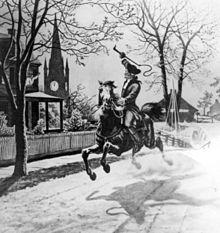 Paul Revere in full flight