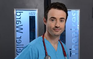 Programme Name: Holby City - TX: n/a - Episode: n/a (No. Generics) - Picture Shows: Raf di Lucca (JOE MCFADDEN) - (C) BBC - Photographer: Kieron McCarron