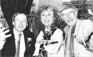 Walter Love, Ottilie Patterson and Norman Watson at a reunion in the Europa Hotel just before Ottilie died.